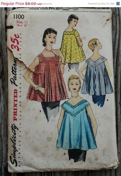 20% OFF SEWING Simplicity 1100 1950s 50s by EleanorMeriwether
