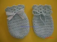 Receitas e Graficos: Luvinha de Croche