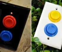 Arcade Light Switch.  Great for game room in basement or where evs.