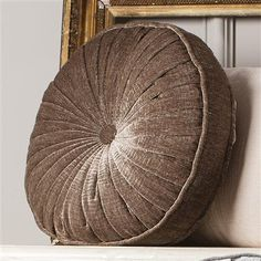 Parisian House Shimmer Cushion Round, Taupe
