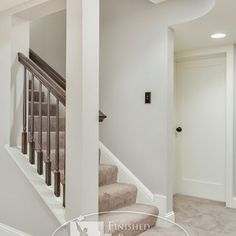 Colfax Basement - traditional - staircase - minneapolis - by Finished Basement Company; what do to when your head may hit on the waay down. Open Basement Stairs, Basement House, Basement Apartment, Apartment Kitchen, Basement Kitchen, Basement Subfloor, Open Stairs, Basement Ceilings, Basement Bars