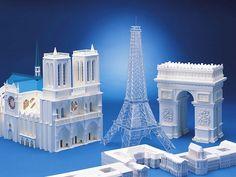 Paper Models of Paris Landmark