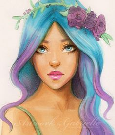 Image result for girl with blonde hair drawing