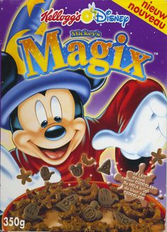 Mickey's Magix  Benelux ©2003 Kelloggs Company Best Cereal, Cereal Bars, Retro Recipes, Vintage Recipes, 90s Food, Discontinued Food, Types Of Cereal, Cereal Killer, Breakfast Cereal