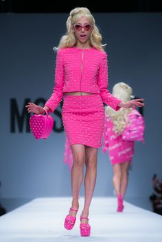 Moschino Paints Milan Barbie Pink with SS15 Collection - iRockstarz..Love this so Barbie!!