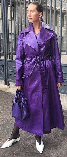 Rain Wear, Trench Coats, Coats For Women, Raincoat, Shirt Dress, Purple, How To Wear, Shirts, Dresses