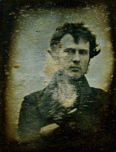Self-portrait, [October or November] 1839. World's first selfie. No duck face, just pure hotness.