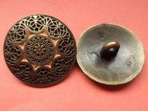 8 METALLKNÖPFE bronze 21mm (5437-8) Knöpfe Metall