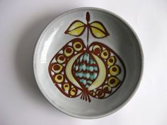 MidCentury Modern Handmade Apple  Bowl 1960's  by RetroEurope, €12.99