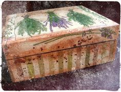 herb box, decoupage