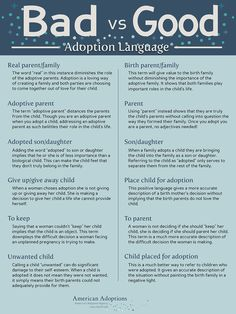 Negative adoption language can be hurtful to adopted children. Try using this positive language instead!