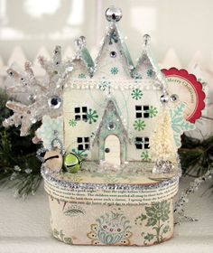 Gorgeous House box using template from Victoria magazine website
