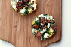Mini Spinach & Turkey Bacon Quiche