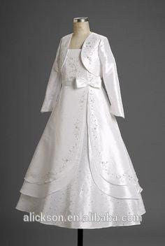 2 pedaço de manga longa multi- camada de belo vestido de primeira comunhão 2014-Vestidos das meninas-ID do produto:1992185027-portuguese.alibaba.com