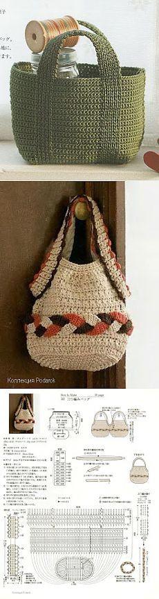 Meu Paraiso: Bolsas Croche
