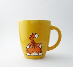 Cat mug von vitaminaeu auf Etsy