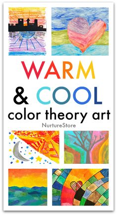 Warm and cool color theory art lesson for kids - night and day art project, solstice art project Supplies Tutorial Art Drawing Color Art Lessons, Art Lessons For Kids, Colour Theory Lessons, Art For Children, Art Project For Kids, Painting Ideas For Kids, Easy Art For Kids, Art Kids, Kindergarten Art Lessons