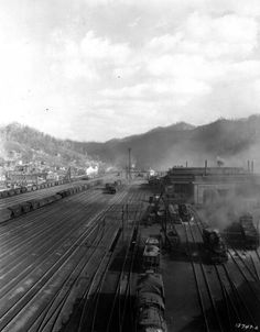 Overview of the Rail Yard, Williamson, WV, 1930.