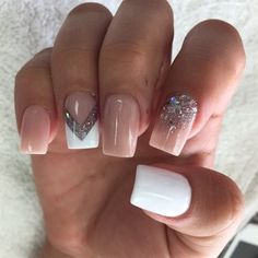 Here comes one among the best nail art style concepts and simplest nail art layout for beginners. Enjoy in Photos! White Nail Art, White Nails, Gel Designs, Nail Art Designs, Nails Design, Easy Nail Art, Cool Nail Art, Long Square Nails, Eyeliner