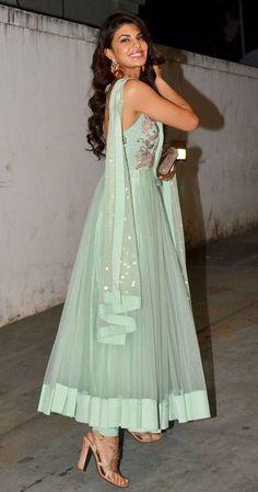 #jaquiline in beautiful #Anarkali #Suit