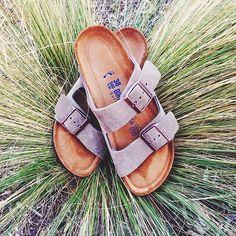 Birkenstock 'Arizona' Soft t Sandal (Women) Sock Shoes, Cute Shoes, Me Too Shoes, Shoe Boots, Shoes Sandals, Flat Sandals, Women Sandals, Shoes Women, Ankle Boots