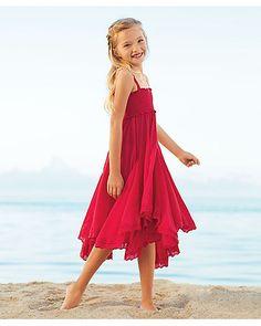 red fairy dreams girls dress