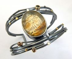 Dendritic Quartz Twig cuff - Sydney Lynch