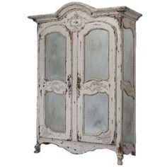 White Mirrored Armoire  $4,299 - belleescape.com