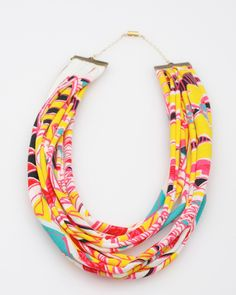 cool fabric necklace!