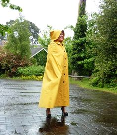 Yellow rubberlined cape