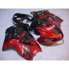 Suzuki GSX-R 1300 Hayabusa 1996-2007 Injection ABS Fairing - Others - Red/Black | $699.00