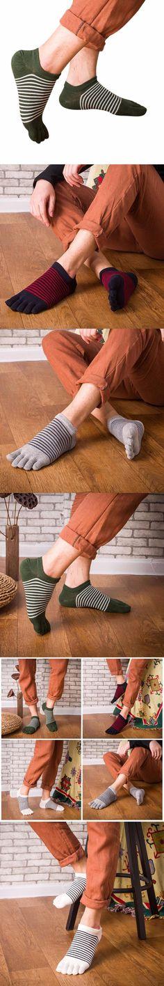 Men's Five Toe Cotton Socks Pure Patchwork Trainer Runner Finger Socks Breathable Casual Hot Sale Fashion Miesten sukat 6 #DD