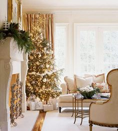 Very pretty Christmas decorations on site.