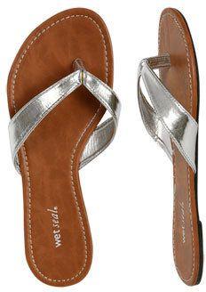 ShopStyle: WetSeal Basic Flip Flop White