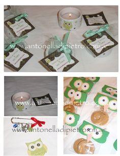 Buhos, lechuzas, Owl. BABY SHOWER. Souvenirs. Party favors. http://antonelladipietro.com.ar/blog/2011/07/babyshower-buhos/