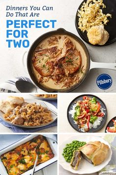 Dinners You Can Do That Are Perfect for Two Whether you're cooking for date night or a weeknight, these recipes are perfectly proportioned for two people—or for one person who wants leftovers for lunch tomorrow! Cooking Chef Gourmet, Cooking Icon, Cooking App, Cooking For One, Cooking Recipes, Cooking Tools, Cooking Time, Healthy Meals For Two, Meals For One