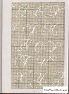 Cross Stitch Cursive - Part 2