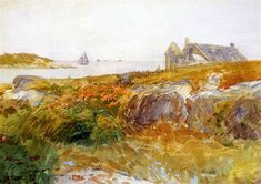 Isle of Shoals, 1894 by Childe Hassam. Impressionism. landscape