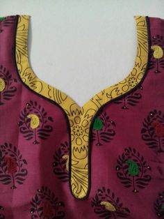 Different Types of Neck Patterns to Try in your Kurtis - Art & Craft Ideas Salwar Neck Patterns, Neck Patterns For Kurtis, Salwar Kameez Neck Designs, Churidar Designs, Kurta Neck Design, Chudithar Neck Designs, Neck Designs For Suits, Neckline Designs, Blouse Neck Designs