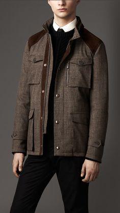 Rainwear Tweed Field Jacket | Burberry