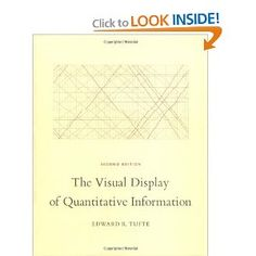 Edward Tufte - The Visual Display of Quantitative Information. My favorite of Tufte's books. I was fortunate to attend one of his day-long seminars a few years back. Not only is the seminar outstanding, but you walk away with four of his beautiful books. Visual Literacy, Visual Learning, Information Visualization, Data Visualization, This Is A Book, Visual Display, Information Graphics, Classic Books, Mini Books