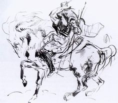 Sketch for Attila by Eugène Delacroix: