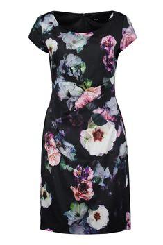 92cef386a5345f Kleid Baumwollsatin Blütenprint Vera Mont | Mode Bösckens Mode Für  Brautmutter, Kurze Abendkleider, Wunderschöne
