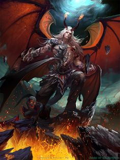 """""""Satan"""" by Xu (crow-god)   Legend of the Cryptids   #Fantasy"""