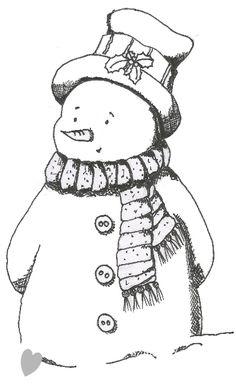 FREE snowman digi