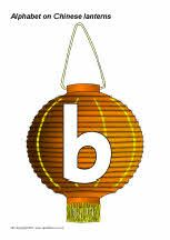 Alphabet on Chinese lanterns (SB3603) - SparkleBox