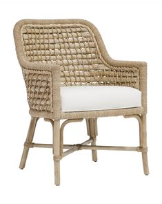 The Anders Dining chair is a contemporary take on classic design. Its dramatic, curved arm brings a sculptural quality that's easily its best feature. Crafted from limed oak, it's the perfect natural and rustic complement to this refined seating option. Mixed Dining Chairs, Round Back Dining Chairs, Living Room Chairs, Dining Rooms, Dining Area, Dining Table, Cottage Furniture, Coastal Furniture, Colorful Furniture