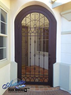 Custom Arched Wrought Iron Entryway