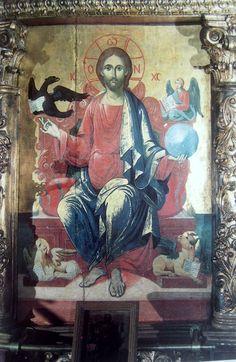 Δεσποτική εικόνα του Χριστού. Ναός Αγίου Νικολάου. έργο του Σπύρου Βεντούρα. (1815).