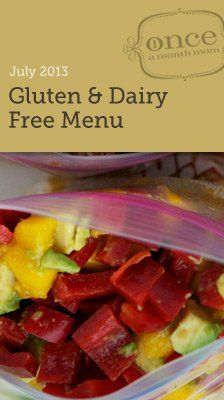 Gluten Free Dairy Free July Freezer Menu - a month worth of dairy free meals that you make and freeze in one day. All recipes are adapted to be compliant and freezer friendly.